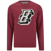 Billionaire Boys Club Men's 'Flying B' Crew Bonded Lux Cotton Heather Sweatshirt - Chilli Pepper