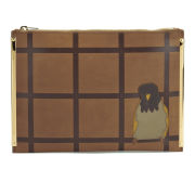 Sophie Hulme Large Zip Pouch - Tan