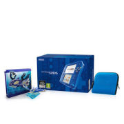 Nintendo 2DS Transparent Blue Pokémon Alpha Sapphire Steelbook + Figurine Pack
