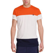 Mas-if Men's Block Mix T-Shirt - Burnt Orange/Off White/Navy