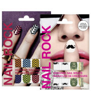 Rock Cosmetics Nail Rock Nail Wrap Duo- Big Money and Chevrons