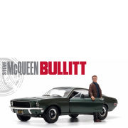 1968 Ford Mustang GT Fastback Highland Green with Steve McQueen Figure 1:18 Scale Model