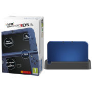 NEW 3DS XL Metallic Blue Console - Includes Black Charging Cradle