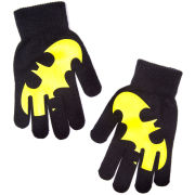 DC Comics Batman Gloves with Rubber Yellow Logo