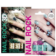 Rock Cosmetics Nail Rock Nail Wrap Duo- Quail and Glister Gold