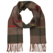 Barbour Unisex New Country Plaid  Scarf - Olive Mix