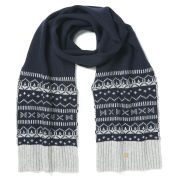 Farah Vintage Men's Mantle Fairisle Scarf - True Navy