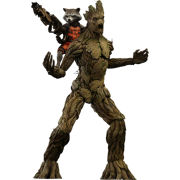 Hot Toys Guardians of the Galaxy Rocket Raccon and Groot 1:6 Scale Figure