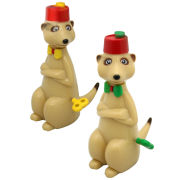 50Fifty Wind Up Racing Meerkats - Multi