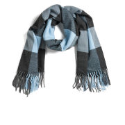 ONLY Women's Scarlett Check Scarf - Cool Blue