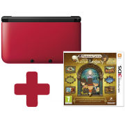 Nintendo 3DS XL Red: Bundle includes Professor Layton and the Azran Legacy
