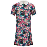 Glamorous Women's Bright Floral Collar Dress - Multi