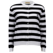 Peter Jensen Women's Stripe Cardigan - Black/White