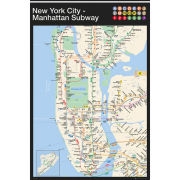 New York Manhattan Subway Map - Maxi Poster - 61 x 91.5cm