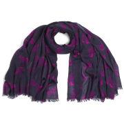 Mercy Delta Horse Cashmere/Silk Wrap Scarf - Pink/Navy