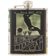 Flying Scotsman Stainless Steel Hip Flask