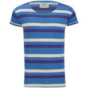 Jack & Jones Men's Robit Striped T-Shirt - Mykonos Blue
