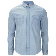 BOSS Orange Men's Edaslime Shirt - Bright Blue