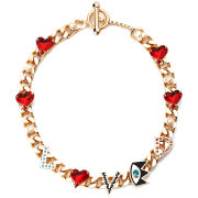 Maria Francesca Pepe Chunky Chain Love Necklace - Gold