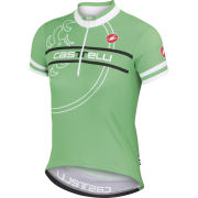 Castelli Kids' Segno Short Sleeve Jersey - Green