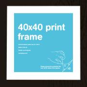 Black Frame 40 x 40cm Print