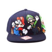 Mario & Luigi - Snapback Cap (Blue)