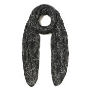 French Connection Supernova Lightweight Scarf - Black/White