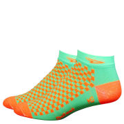 DeFeet Speede Hi Vis Socks - Green/Orange