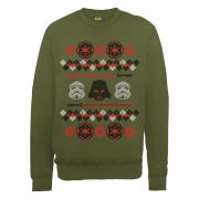 Star Wars - Christmas Empire Knit Effect Sweatshirt - Military Green