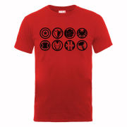 Marvel Avengers Assemble Team Icons Men's T-Shirt - Red