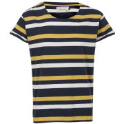 Jack & Jones Men's Robit Stripe T-Shirt - Dress Blue