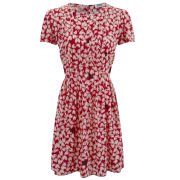 Sonia by Sonia Rykiel Women's Silk Print Dress - Red/Cream