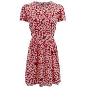 Sonia by Sonia Rykiel Women's Silk Print Dress - Red/Cream