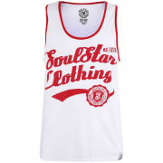 Soul Star Men's Vivid Vest - White/Red