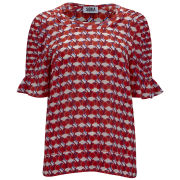 Sonia by Sonia Rykiel Women's Printed Blouse - Red