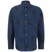 Paul Smith Jeans Men's Swirl Printed Pocket Cotton Shirt - Navy
