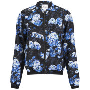 ONLY Women's Rayne Floral Bomber Jacket - Blue