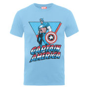 Marvel Captain America Triangle Men's T-Shirt - Sky