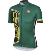 Castelli Formula Full Zip Jersey - Green British - Green/Black
