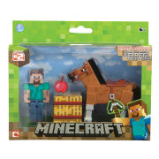 Minecraft Steve With Chestnut Horse Figure