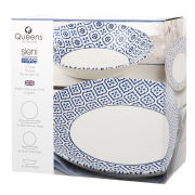Queens Sieni Tuscany Coupe 12 Piece Set Photo Box - White/Blue