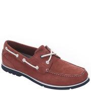 Rockport Men's Summer Tour 2 Eye Boat Shoes - Red/Navy