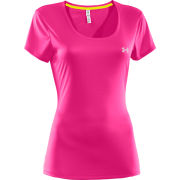 Under Armour Women's Heatgear Fly Weight T-Shirt - Pink Adelic/Reflective