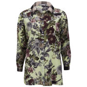 LOVE Women's Contrast Long Shirt - Fantasy Floral