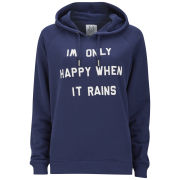Zoe Karssen Women's Only Happy When It Rains Hoody - Blue
