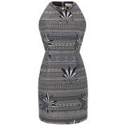 Matthew Williamson Women's Star Jacquard Embroidered Dress - Black/White