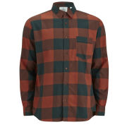 Cheap Monday Men's Neo Flannel Shirt - Rust Check
