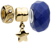 Amadora Star And Crystal Beads Pack Of Three Charms