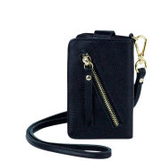 Markberg Mira Leather Mobile Purse - Black/Gold
