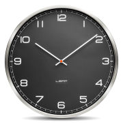 LEFF Amsterdam One 45cm Wall Clock - Stainless Steel Black Arabic